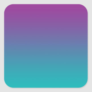 Purple & Teal Ombre Square Sticker