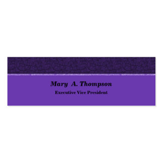 Purple Texture Pack Of Skinny Business Cards