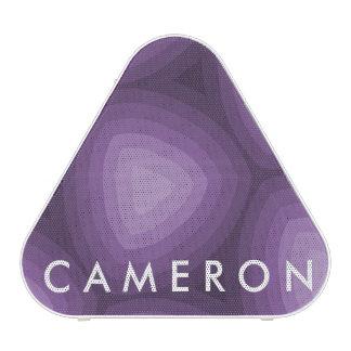 Purple Triangles Geometric Design