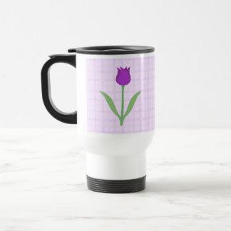 Purple Tulip Flower. Stainless Steel Travel Mug