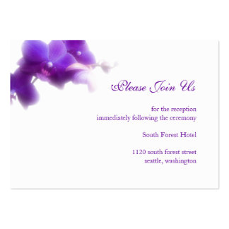 Purple Wedding Reception Enclosure Card Pack Of Chubby Business Cards