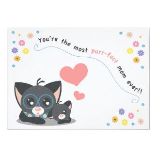 Purr-fect Mom Ever! Holiday Card 13 Cm X 18 Cm Invitation Card