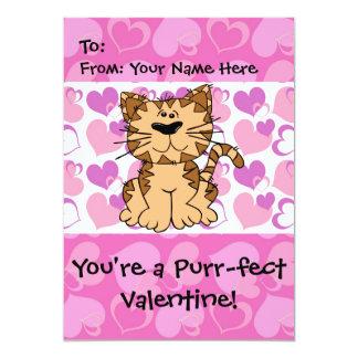 Purr-fect Valentine 13 Cm X 18 Cm Invitation Card