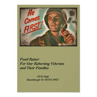 Put Him First WWII Food Rations 13 Cm X 18 Cm Invitation Card