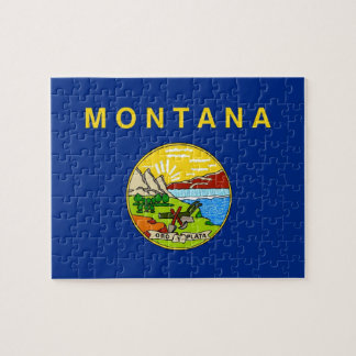 Puzzle with Flag of Montana State