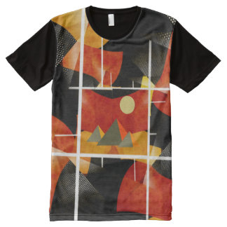 pyramids on Abstract Art All-Over Printed TShirt All-Over Print T-Shirt