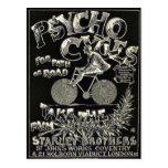 Pyscho Cycles - Vintage Bike Advertisement Postcard
