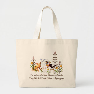 Pythagoras Vegetarian quote Jumbo Tote Bag