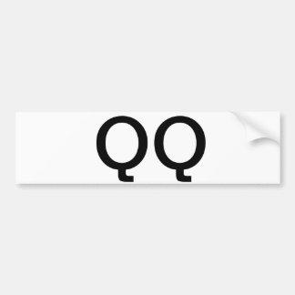 QQ Bumper Sticker