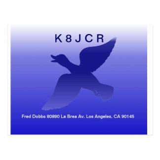 QSL - Blue Duck Design Postcard