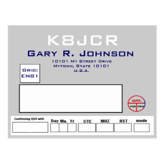 QSL design clean and silvery Postcard