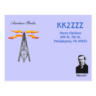QSL Design - Marconi Postcard