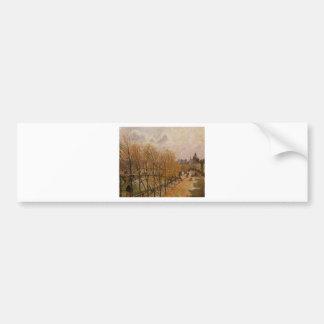 Quai Malaquais, Morning by Camille Pissarro Bumper Sticker