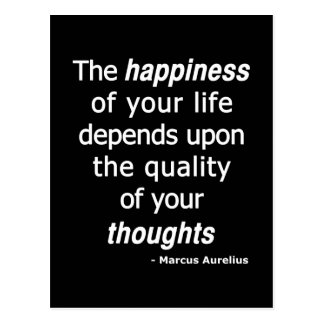 Quality Thoughts? Then a Happy Life... Postcard