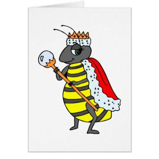Queen Honeybee Diva Cartoon Greeting Card