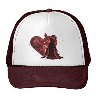 Queen Of Hearts & Heart Jewel - Red Cap