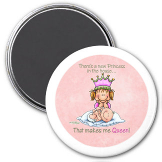 Queen of Princess - Big Sister button 7.5 Cm Round Magnet
