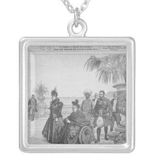 Queen Victoria on the Italian Riviera Square Pendant Necklace