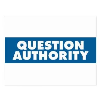 Question Authority - Blue Postcard