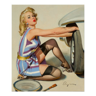 Quick Change Pin Up Art Poster