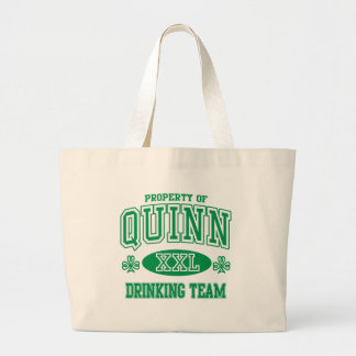 Quinn Irish Drinking Team Jumbo Tote Bag