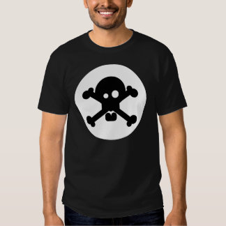 Quirky Death Skull Black T-Shirt