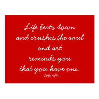 Quotable Postcard - Art and Soul