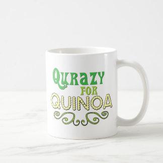 Qurazy for Quinoa © - Funny Quinoa Slogan Basic White Mug