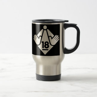 R18 (W) STAINLESS STEEL TRAVEL MUG