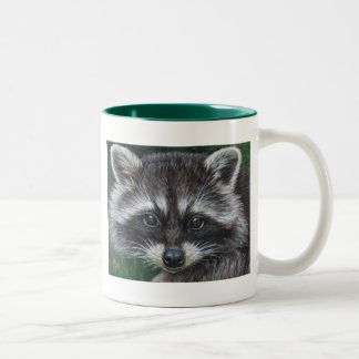 Raccoon #3 Two-Tone mug