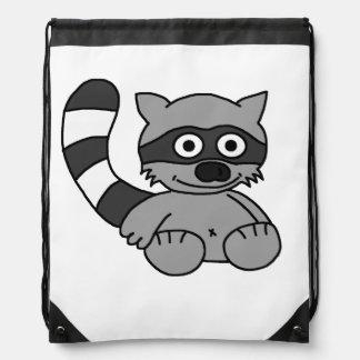 Raccoon Drawstring Bag