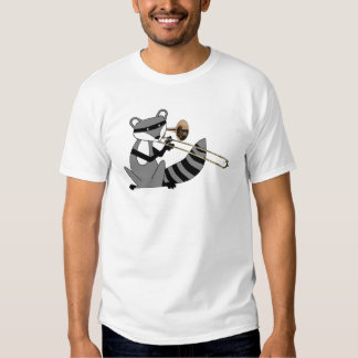 Raccoon Playing the Trombone Tee Shirts