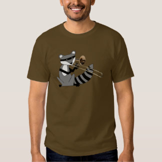 Raccoon Playing the Trombone Tshirt
