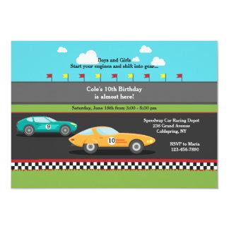 Race Cars Invitation