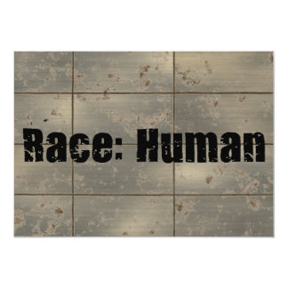 Race: Human 13 Cm X 18 Cm Invitation Card