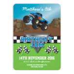 Racing Monster Jam Truck Birthday Party 13 Cm X 18 Cm Invitation Card