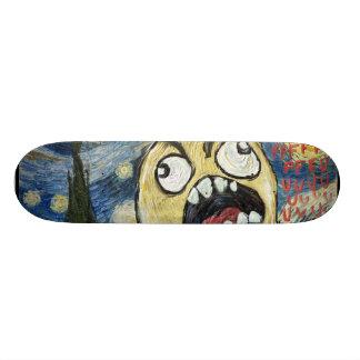 Rage Face Meme Face Comic Classy Painting Custom Skateboard