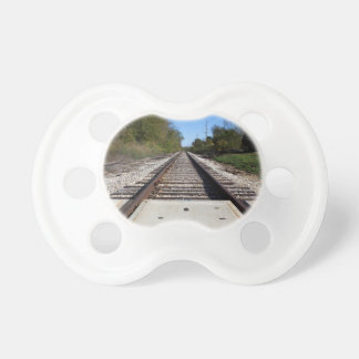 Railroad Train Tracks Photo Baby Pacifier