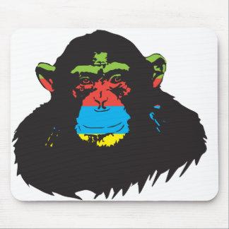 Rainbow chimp. mouse pad