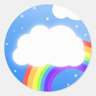 Rainbow cloud custom name  - stickers