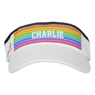 Rainbow Colors custom monogram visor