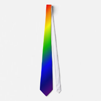 Rainbow Colors Diagonal Purple Up Tie
