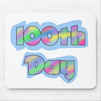 Rainbow Effect 100th Day of School Tshirts Mouse Pad