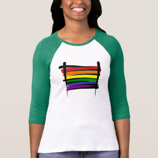 Rainbow Gay Pride Brush Flag Shirt