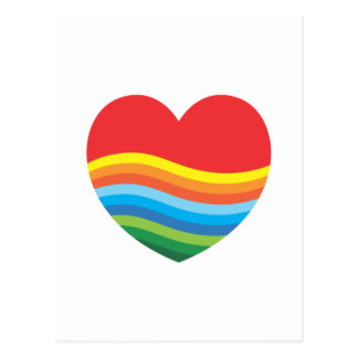 Rainbow Gift Popular Present Heart Postcard