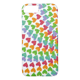 Rainbow Hearts Sprinkles Love Colorful iPhone Case