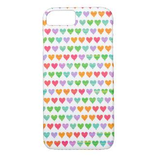 Rainbow Love Hearts Colorful Fun Cute Casing iPhone 7 Case