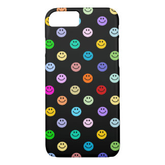 Rainbow Multicolor Smiley Face Pattern iPhone 7 Case