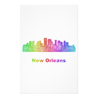 Rainbow New Orleans skyline Customised Stationery
