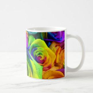 Rainbow rose mug